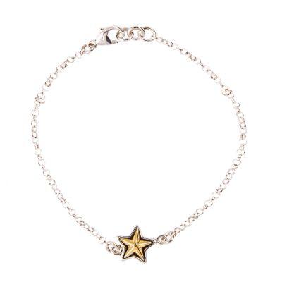 Single Texas Star Sterling Silver Bracelet