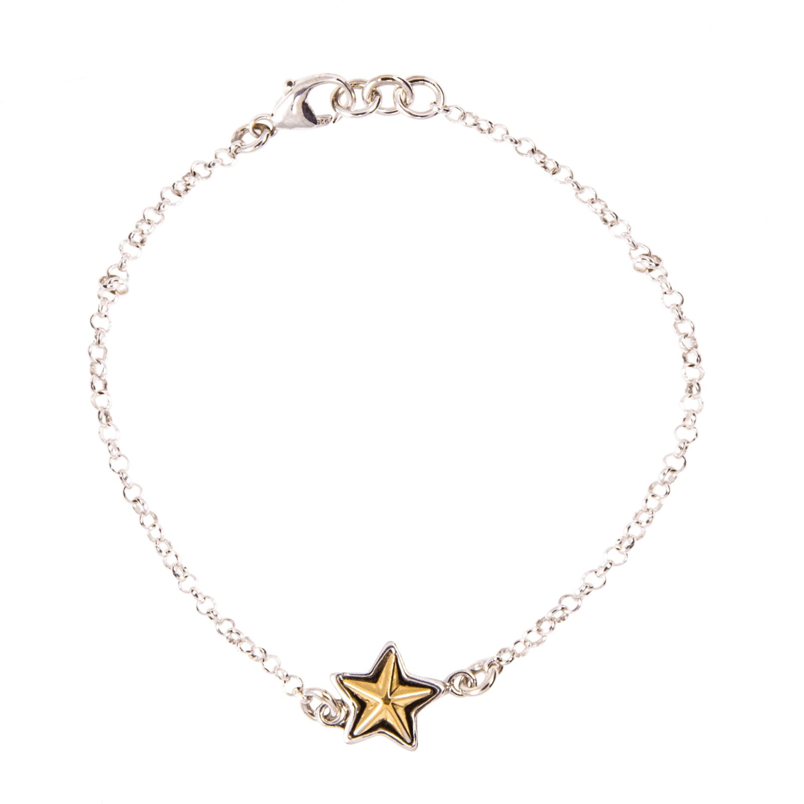 Single Texas Star Sterling Silver Bracelet
