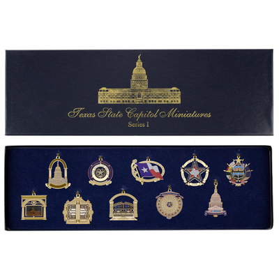Miniature Texas Capitol Ornament Gift Set