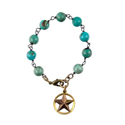 Texas Star Turquoise Bracelet
