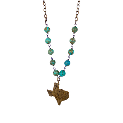 Texas Turquoise Chain Necklace