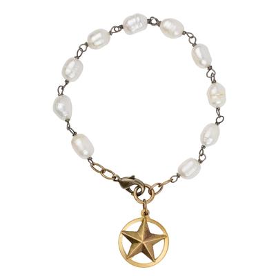 Texas Star Freshwater Pearl Bracelet