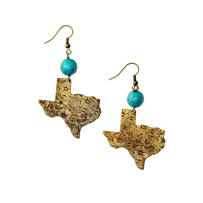 Texas Turquoise Drop Earrings