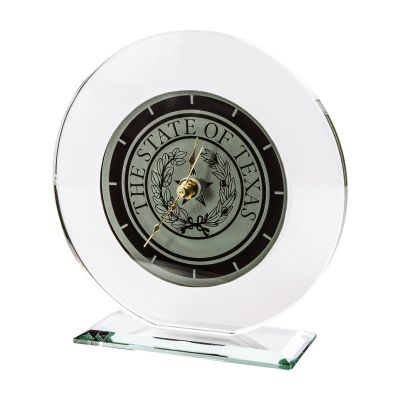 Glass State Seal Clock