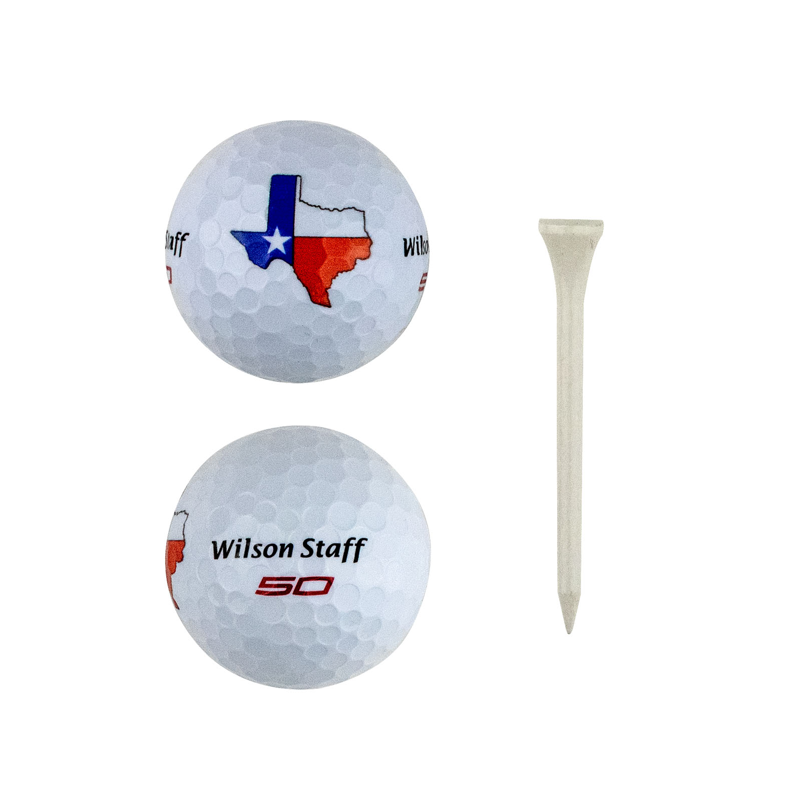Texas Shaped State Flag Golf Ball Pack