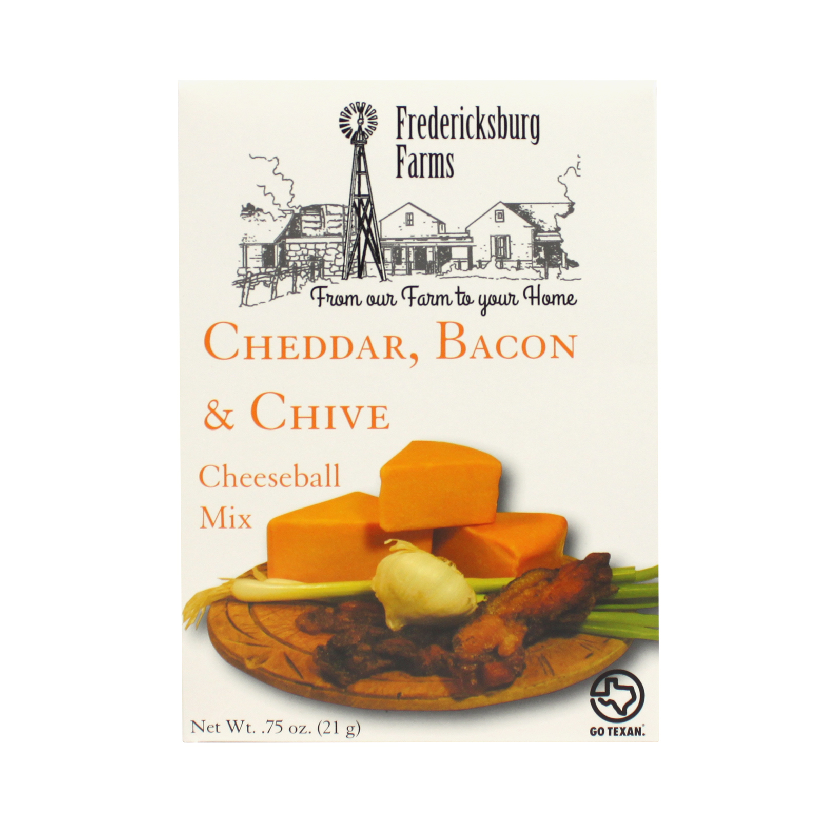 Fredericksburg Farms Cheeseball Mix Cheddar Bacon & Chive