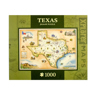Texas Map 1000 Piece Puzzle