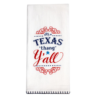 Texas Thang Flour Sack Tea Towel