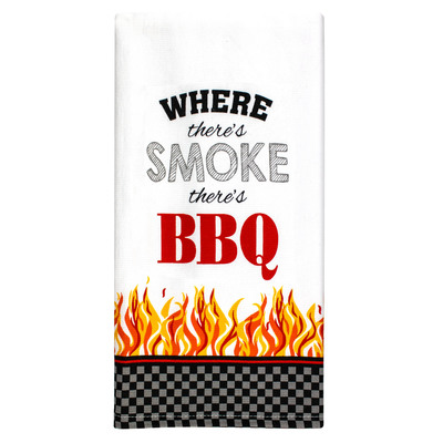 BBQ Smoke Cotton Kitchen Towel