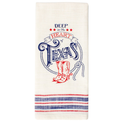 Deep in the Heart Cotton Tea Towel