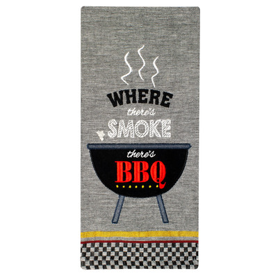 BBQ Smoke Cotton Tea Towel