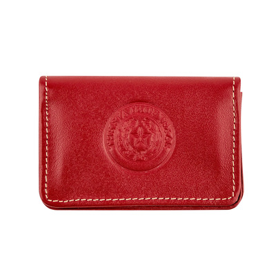 Red Leather Business Card Case
