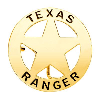 Texas Ranger Gold Tone Belt Buckle