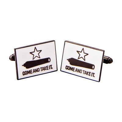 Gonzales Flag Pewter Tone Cuff Links