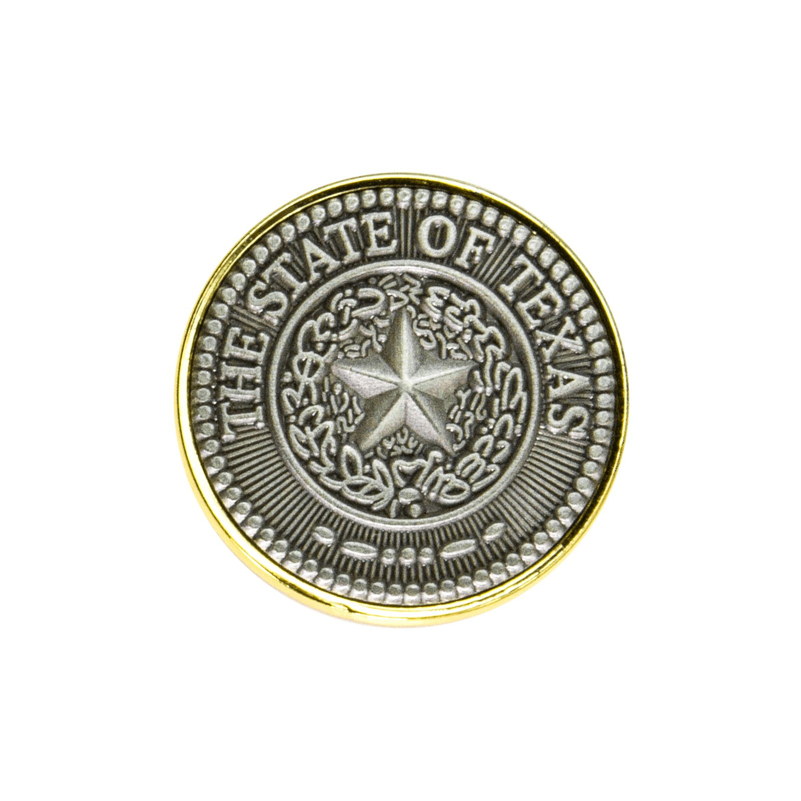 Pewter Tone State Seal Lapel Pin