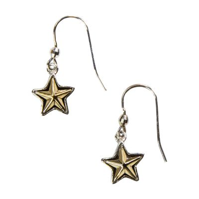 Texas Star Sterling Silver Earrings