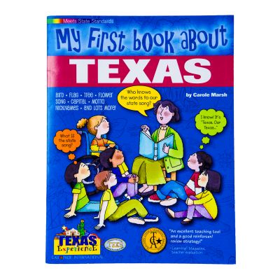 My First Book About Texas Kids Activity Book