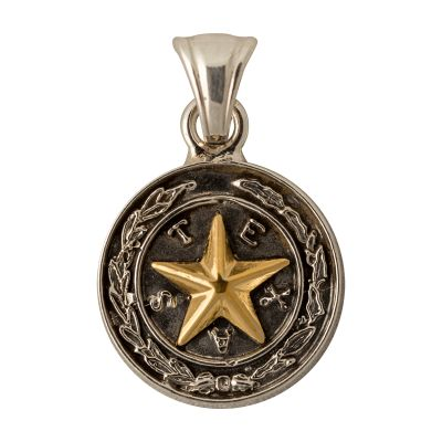 Capitol Chandelier Motif Sterling Silver Small Pendant
