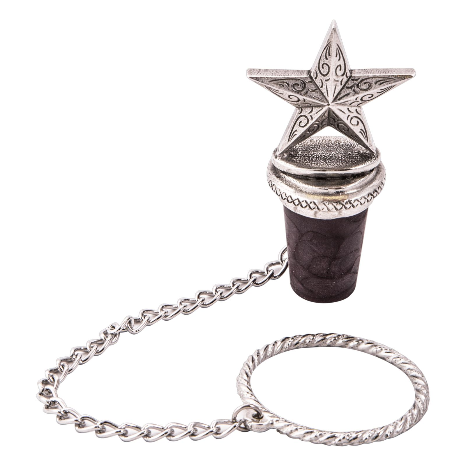 Lone Star Pewter Bottle Stopper
