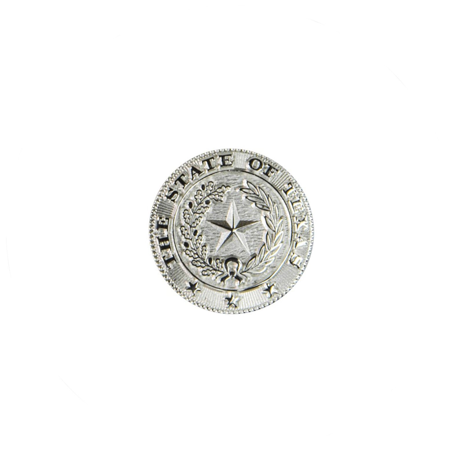 Silver Plate State Seal Lapel Pin