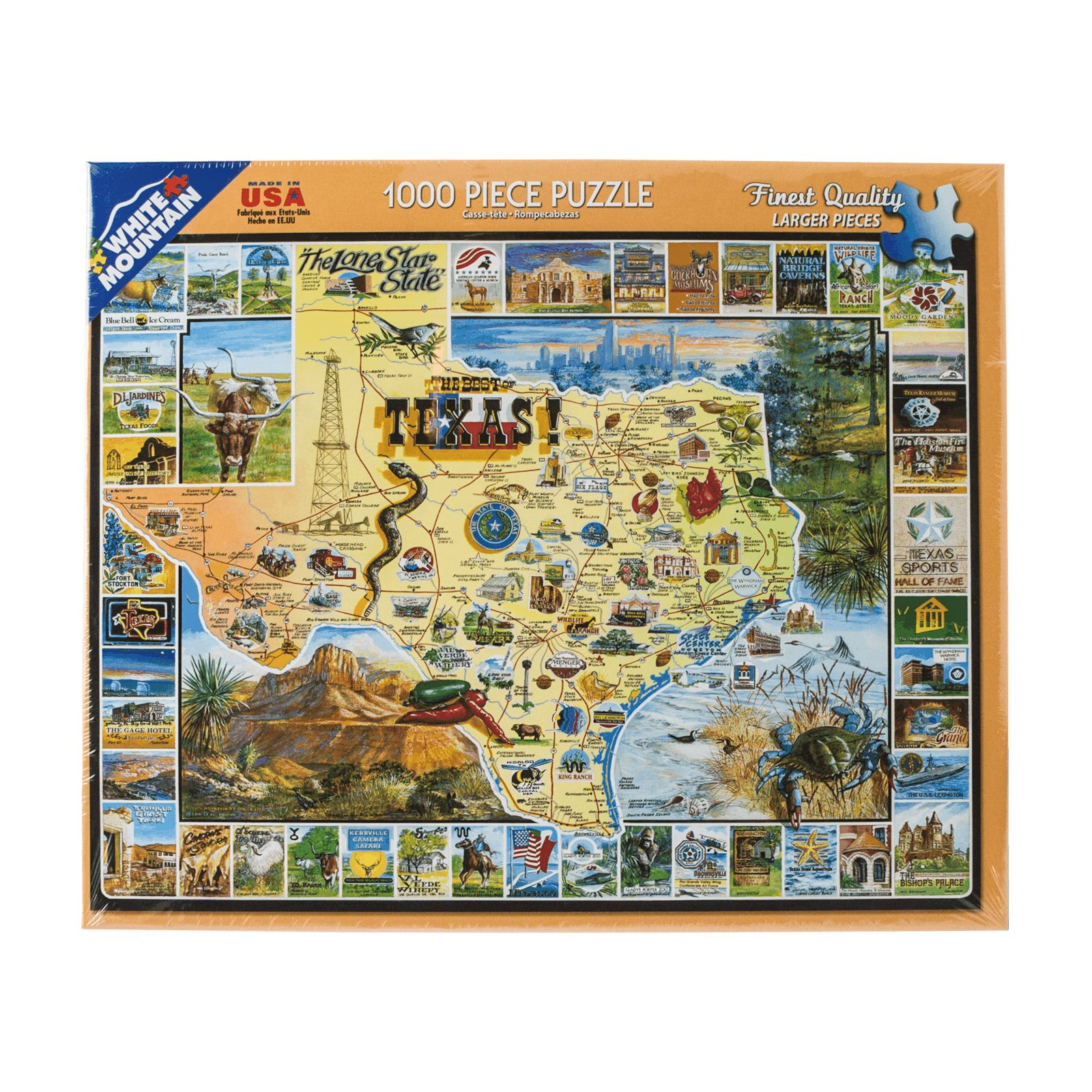 Best of Texas 1000 Piece Jigsaw Puzzle