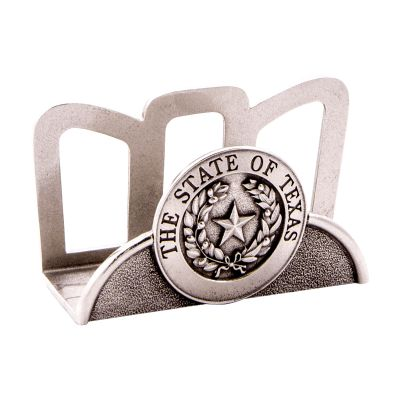 Pewter State Seal Business Card Holder