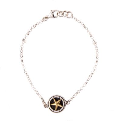 Single Lone Star Sterling Silver Bracelet