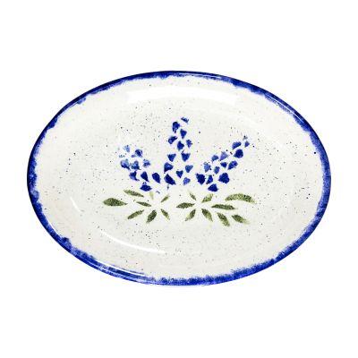 Brookwood Community Pottery Bluebonnet Ceramic Serving Platter