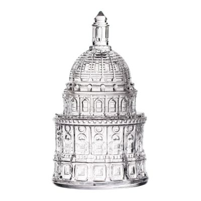 Texas Capitol Dome Glass Candy Jar