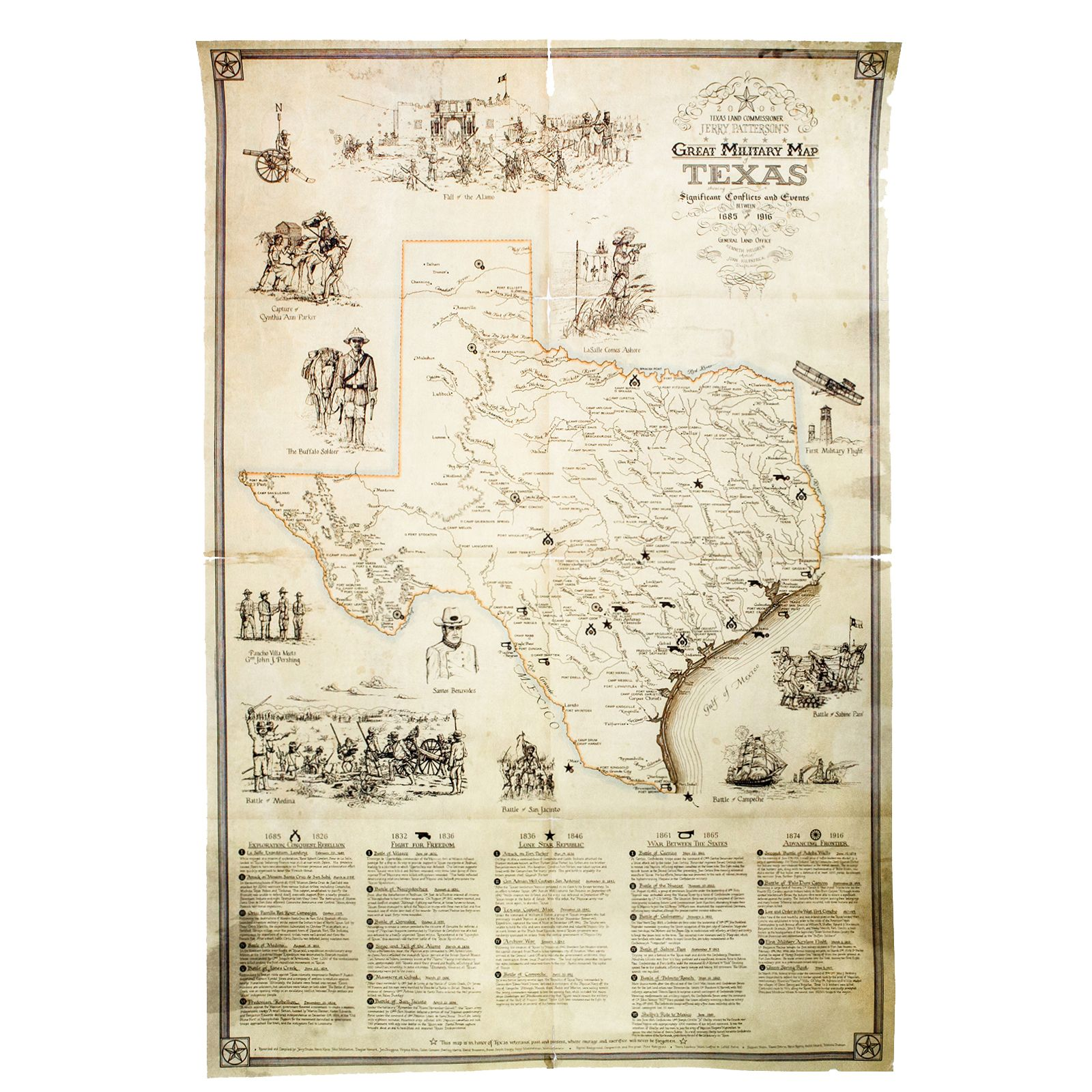 image about Printable Maps of Texas identified as Suitable Armed forces Map of Texas Print