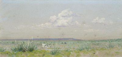 Frank Reaugh Steer in Yucca Landscape, c. 1915
