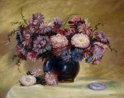 Hallie Crane Rippeteau Flowers in Vase, c. 1915