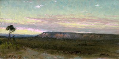 Frank Reaugh Longhorns at Sunset, c. 1890