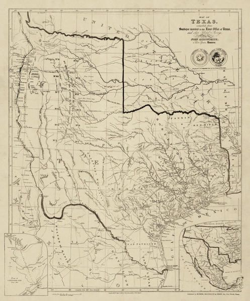 John Arrowsmith Map Of Texas Compiled From Surveys