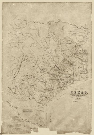 Richard S. Hunt and Jesse F. Randel, publishers Map of Texas Compiled from surveys on record in the General Land Office of the Republic to the year 1839 1891