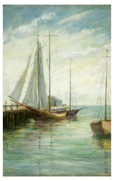 Eloise Polk McGill Sailboats, c. 1910