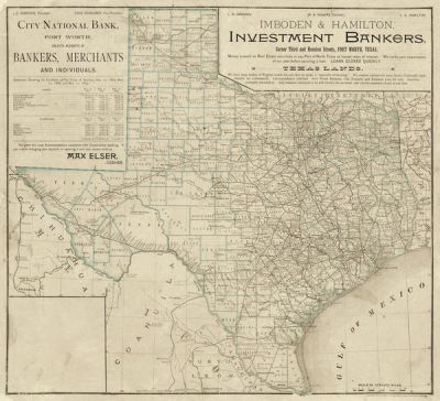 Rand, McNally & Co., Map Publishers Texas Lands 1889