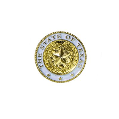 Texas State Seal Gold Tone Lapel Pin
