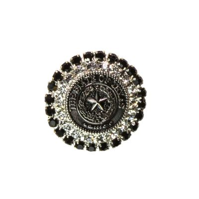 Black and Silver State Seal Brooch