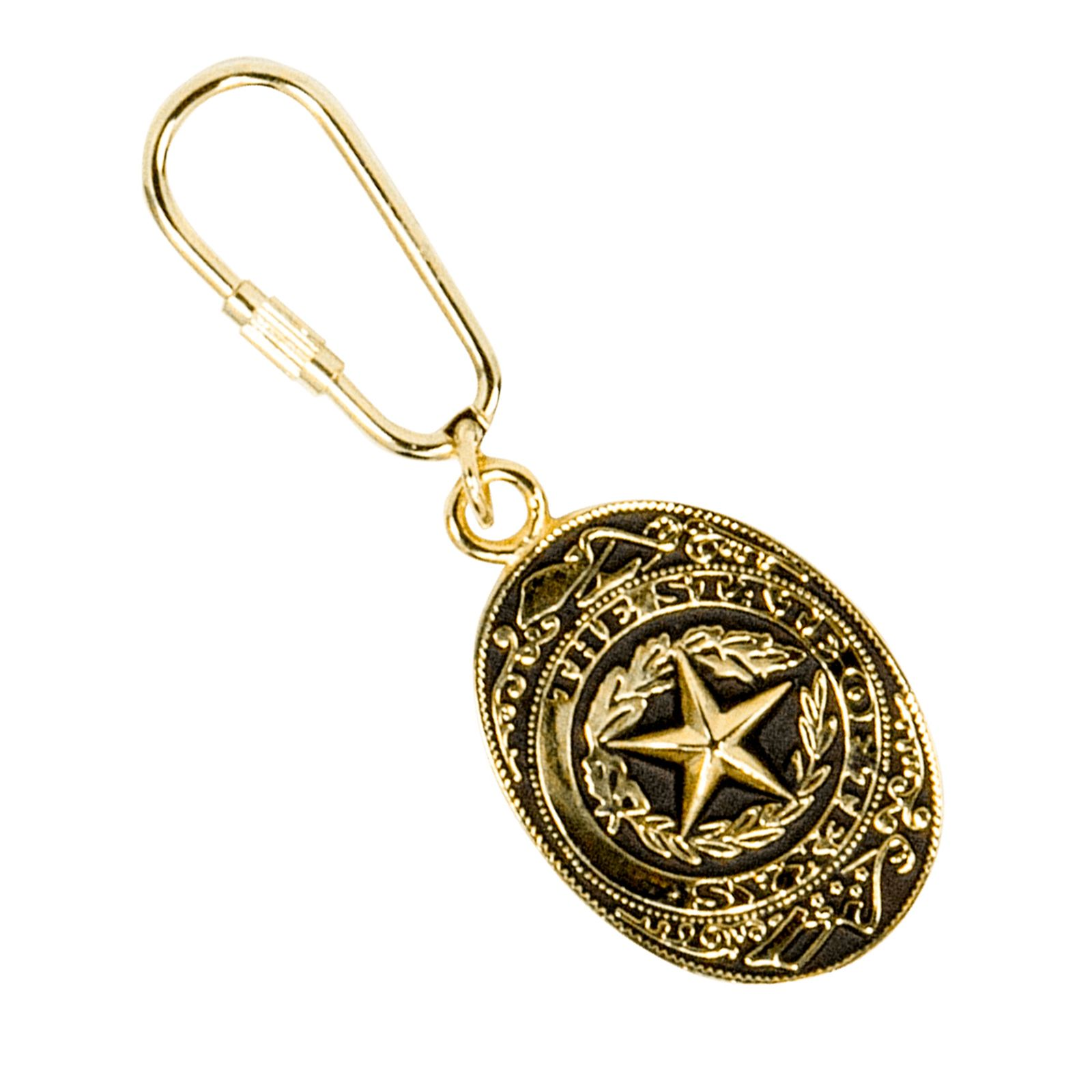 Gold State Seal Key Chain