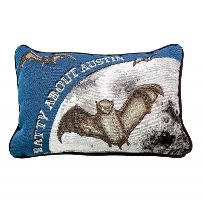 Batty About Austin Accent Pillow