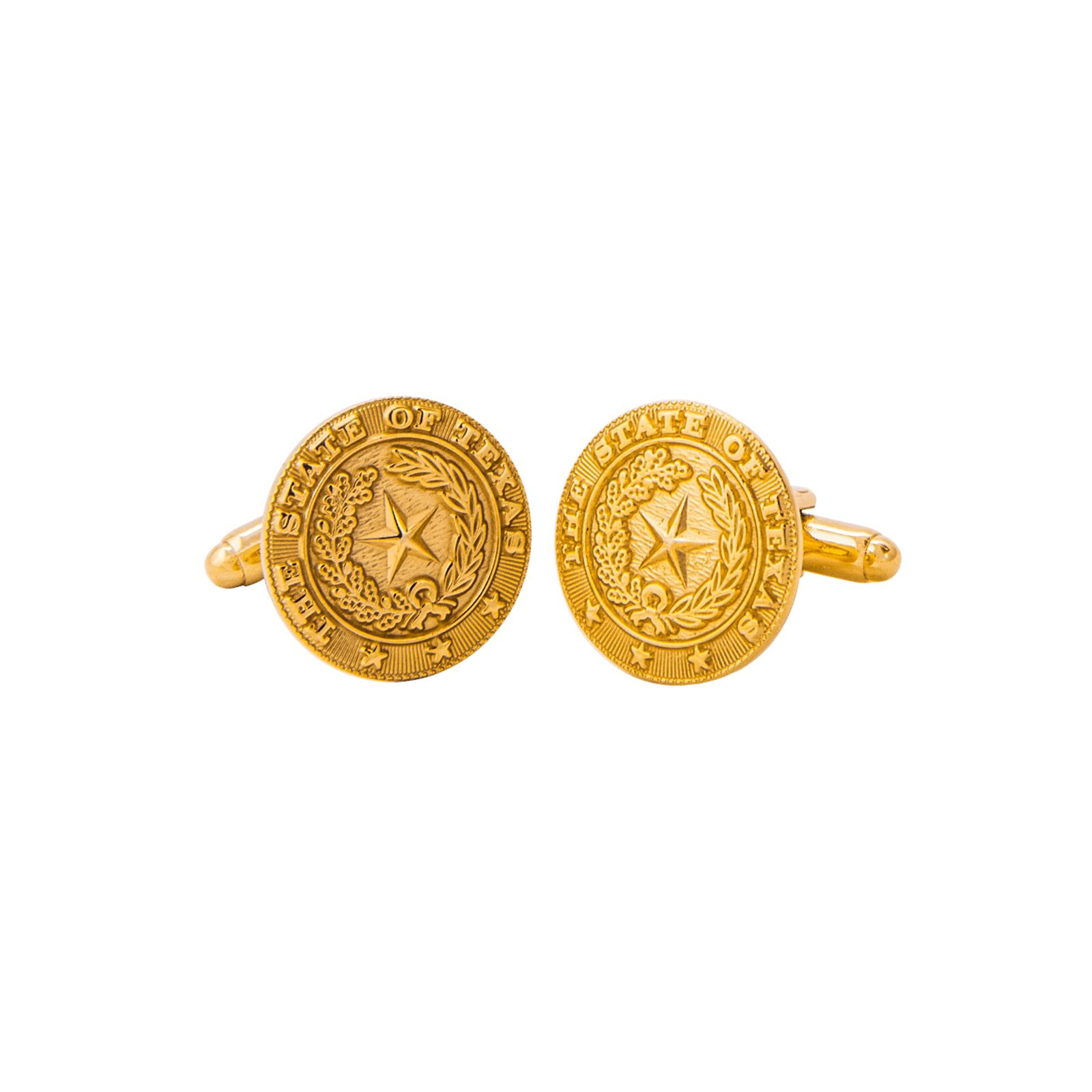 Texas State Seal Gold-Plated Cufflinks