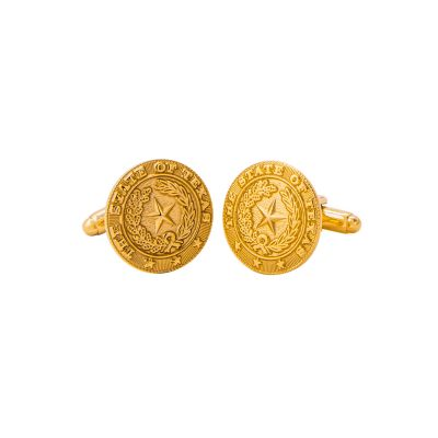 Brass State Seal Cuff Links