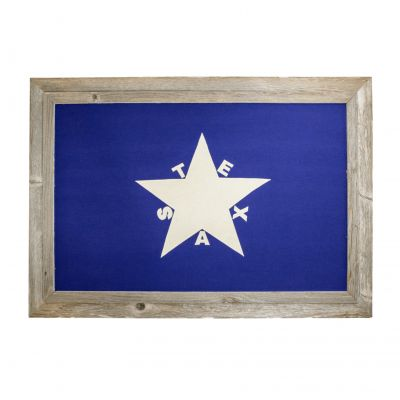 Framed First Flag of the Republic of Texas