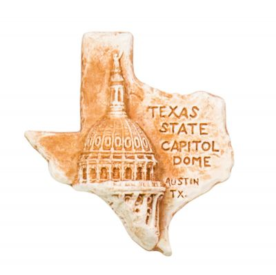 Texas Capitol Dome Clay Magnet