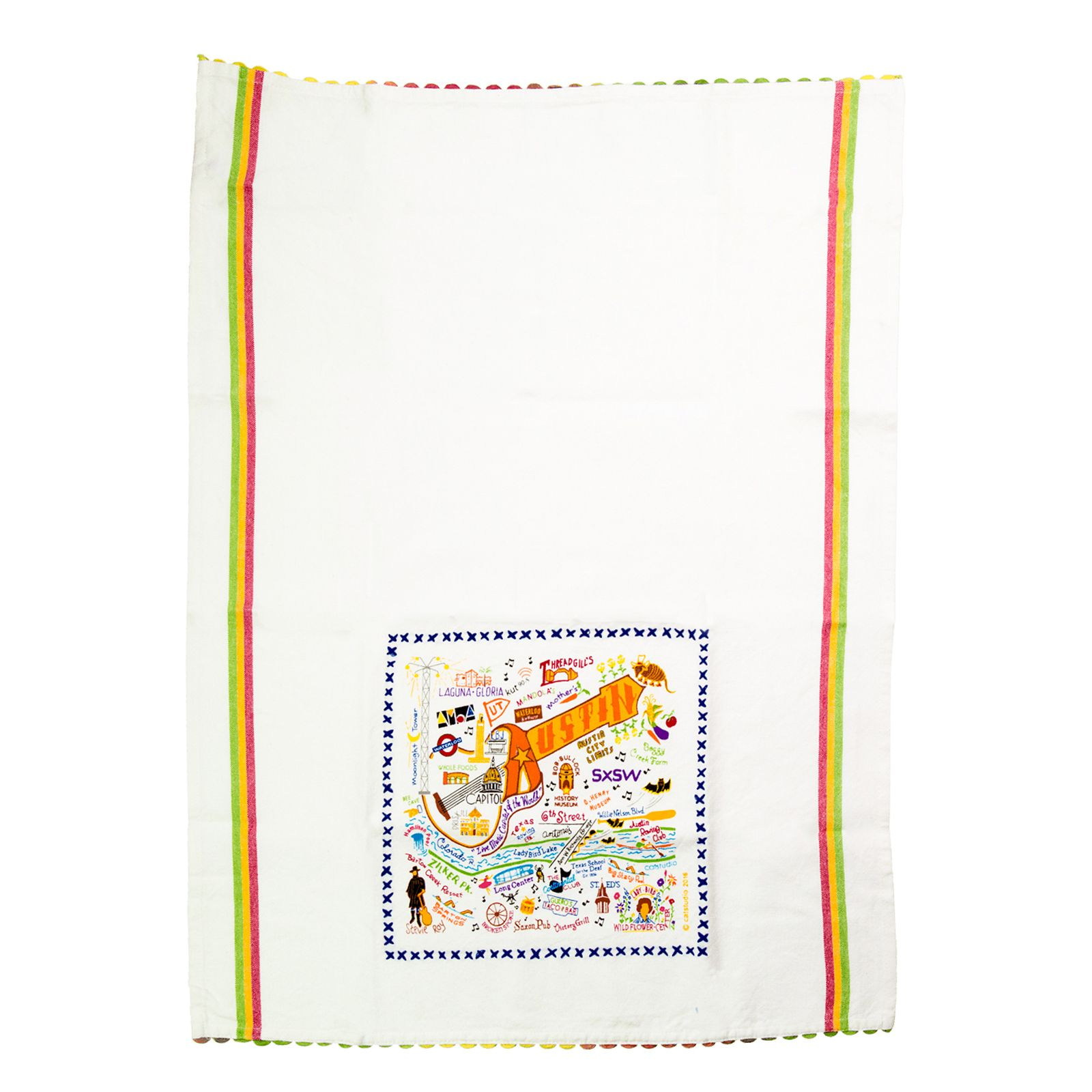 Catstudio™ Austin Texas Cotton Kitchen Towel ...