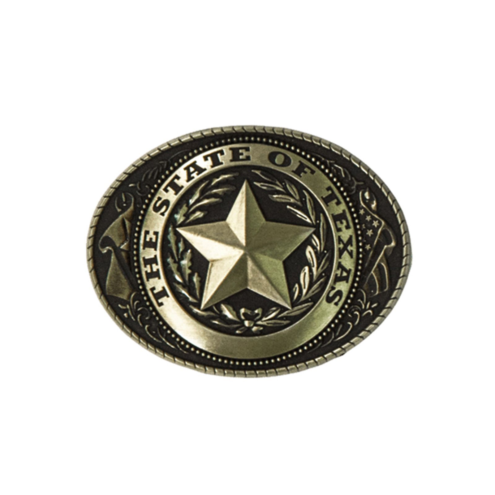 Texas State Seal Brass Paperweight