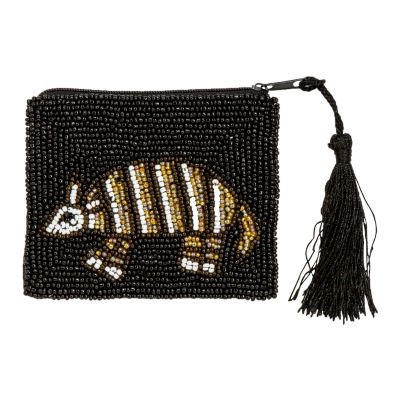 Armadillo Beaded Coin Purse