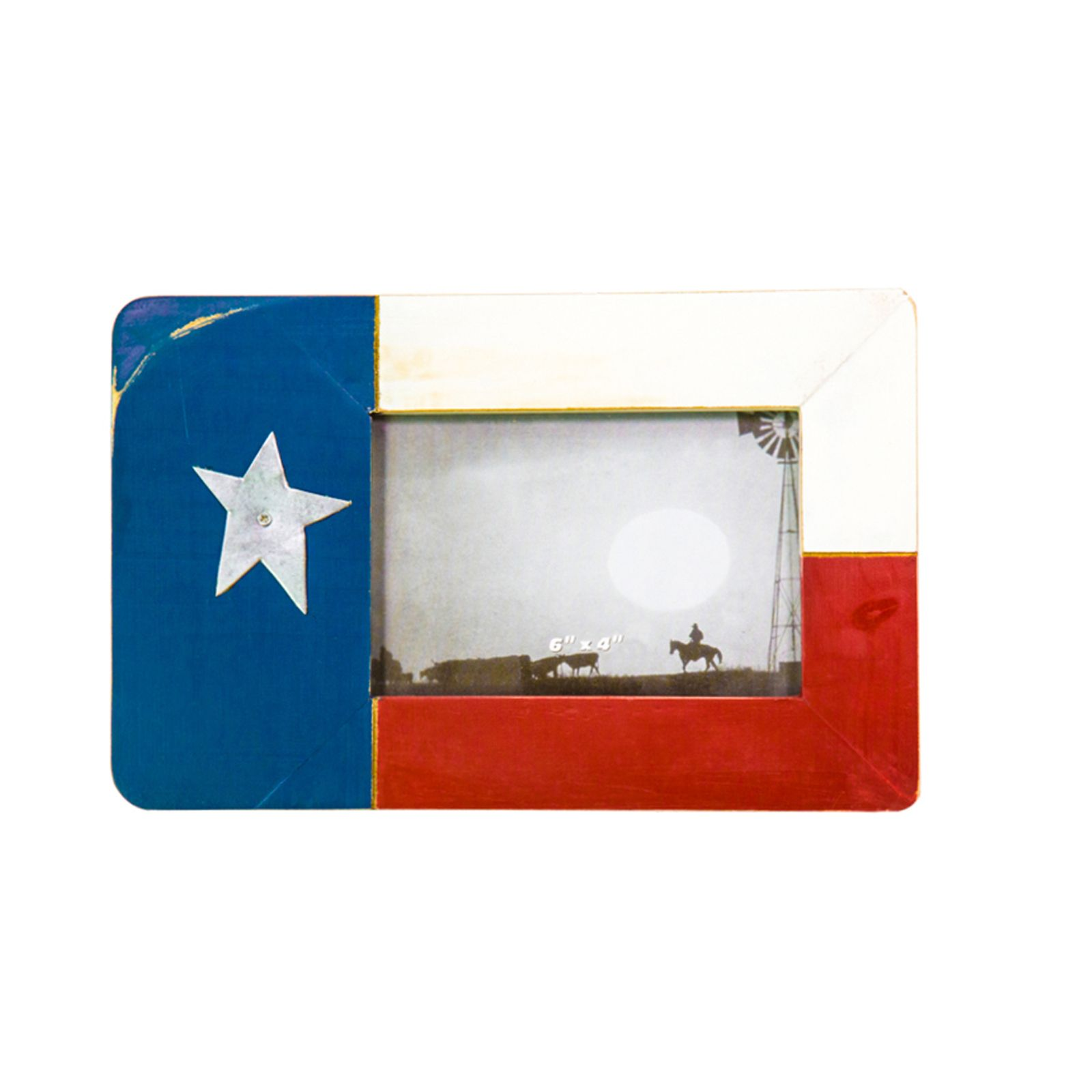 Texas State Flag Barnwood Photo Frame | Texas Capitol Gift Shop