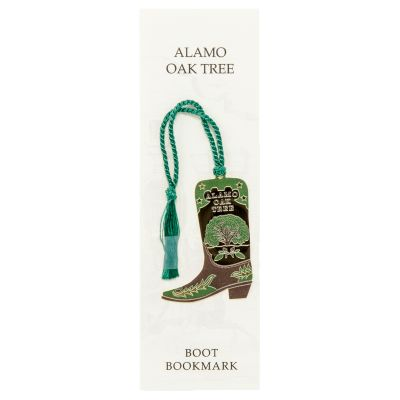 Alamo Oak Tree Boot Bookmark